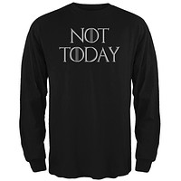 Not Today Procrastinate Death Mens Long Sleeve T Shirt