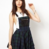 Freak Of Nature New York Doll Pinafore Dress In Tartan at asos.com