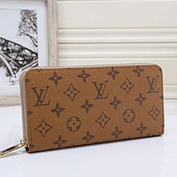 Louis Vuitton LV Hot Selling Classic Men's and Women's Long Zipper Wallet LOGO Printed Letters Holding Coin Purse