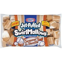 Kraft, Jet-Puffed, Caramel & Vanilla Swirl Marshmallows, 8oz Bag (Pack of 3)