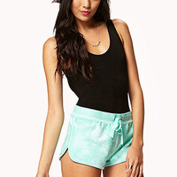 FOREVER 21 Tie-Dye Dolphin Shorts