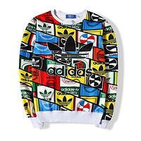 Adidas Women Fashion Top Sweater Pullover Sweatshirt-17