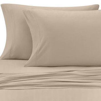Pure Beech Jersey Knit Modal Standard/Queen Pillowcases in Taupe (Set of 2)