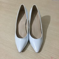 Star pointed toe solid high heels shoes nightclub women's pumps thin heels slip on shoes