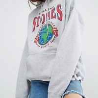 Reclaimed Vintage Inspired Oversized Hoodie With Rolling Stones Band Tour Print at asos.com