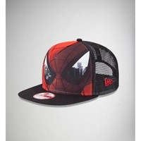 New Era Spider Man Sublimated Front Trucker Hat