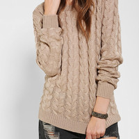 Pins And Needles Classic Cable-Knit Sweater - Urban Outfitters
