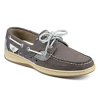 Sperry Top-Sider Bluefish Metallic Dot Boat Shoes - Graphite/Silver