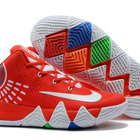Nike Kyrie Irving 4 Red/White Sport Shoes US7-12
