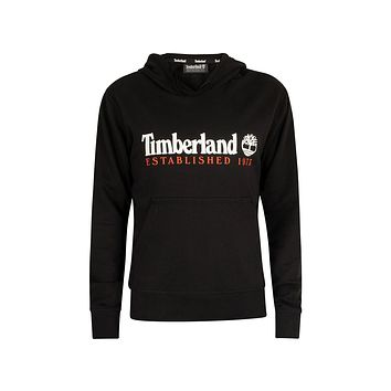 Timberland Men's Essential Established 1973 Black With Red Hoodie