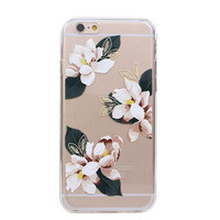 Flower/Pineapple/Cactus Pattern ultra thin Transparent TPU phone case for iphone 6 4.7 inch Phone shell ASJK0927