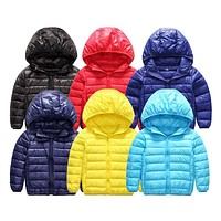 Autumn 2-15Y Girls Boys Parka Jacket Toddler Down Children Clothing Outerwear Thin Casaco Kids Clothes Casual Baby Coat