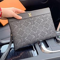 Louis Vuitton LV High Quality Women Men Leather Envelope Clutch Bag File Bag Tote Handbag