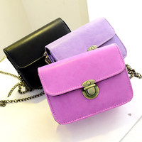 Chain Strap PU Leather Casual Sling Bag