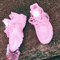 NIKEAIR Huarache Running Sport Casual Shoes Sneakers pink-1