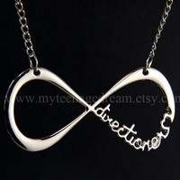 """One Direction Necklace, """"Directioner"""" Infinity Necklace"""
