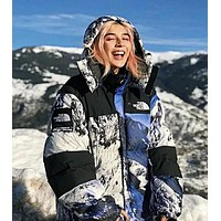 The North Face Supreme Winter Trending Couple Warm Zipper Cardigan Down Jacket Coat Outdoor Windbreaker