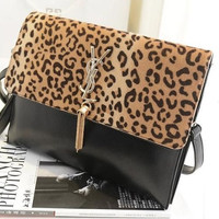 Stylish Double-layered Leopard Tassels One Shoulder Bags [6582468359]