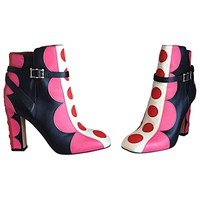 Valentino Sold Out Brand New Size 36 / 6 Polka Dot Runway Ankle Booties