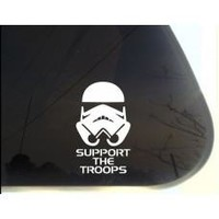 Stormtrooper Support the Troops From Star Wars Decal Sticker for Car Window, Laptop wall