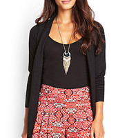 LOVE 21 Abstract Print Pleated Shorts Red/Black