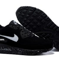 """Nike Air Max 90"" Sport Casual Ink Jet Unisex Air Cushion Sneakers Couple Running Shoes"