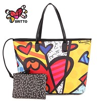ROMERO BRITTO Hot Sale Handbags Big Bag 2017 New Ms. Messenger Large Capacity Minimalist Shoulder Bag Handbag Japan Korean Style