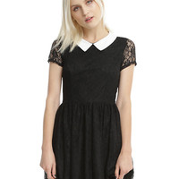 Black & White Collar Lace Dress