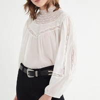 UO Maggie Mock-Neck Top   Urban Outfitters