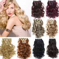 50cm 20inch 7pcs/Set Curly Hair Extension