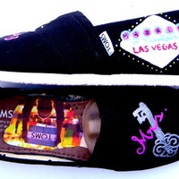 The Vegas Wedding - Vegas Wedding inspired TOMS shoes hand painted by Fruitful Feet
