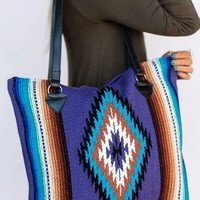 San Carlos Blanket Bag in Purple