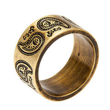 The Obey Dynasty Ring in Antique Brass