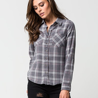 POLLY & ESTHER Washed Womens Flannel | Flannels $19.99