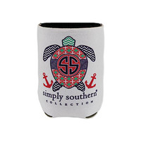 Simply Southern White Turtle Koozie