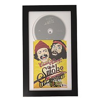 Cheech and Chong Autographed Up In Smoke 40th Anniversary Movie DVD Cover Framed Beckett BAS