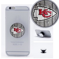 Kansas City Chiefs Football Collapsible Phone Grip Holder Mount Stand Universal