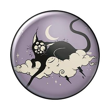 Cat On Cloud, 1-Inch Pin Button