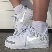 Nike Air Force 1 low-top laser reflective sneakers Shoes