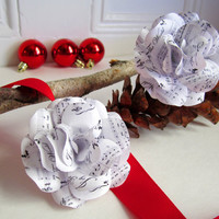 6  Christmas Sheet Music Roses Joy to the World , Silent Night and Deck the Halls  available