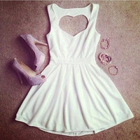 Sexy White Or Red Hollow Dress, Pretty Backless Short Dress, Summer Dresses, Dresses = 5739511553