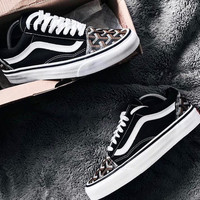 Vans Old Skool X Goyard Customs Classic Low Pair casual skateboard shoes