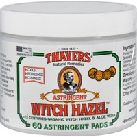 Thayers Witch Hazel With Aloe Vera - 60 Pads