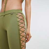 Puma X Fenty Satin Lacing Legging at asos.com