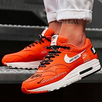 Nike Air Max 1 Just Do It men and women air cushion couple running shoes F0719-1 orange