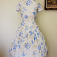 Vintage 1950s New Look Floral  Dress, Toni Todd