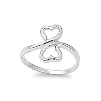 925 Sterling Silver Destined Hearts Ring