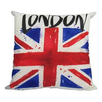 British Flag   London England   Pillow Cover   Throw Pillow   Home Decor   London Bridge   Gifts for Travelers   Unique Friend Gift