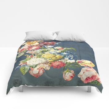 Floral Tribute to Louis McNeice Comforters by anipani