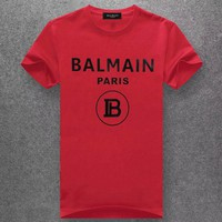 Trendsetter Balmain Women Man Fashion Print Sport Short Sleeve Shirt Top Tee